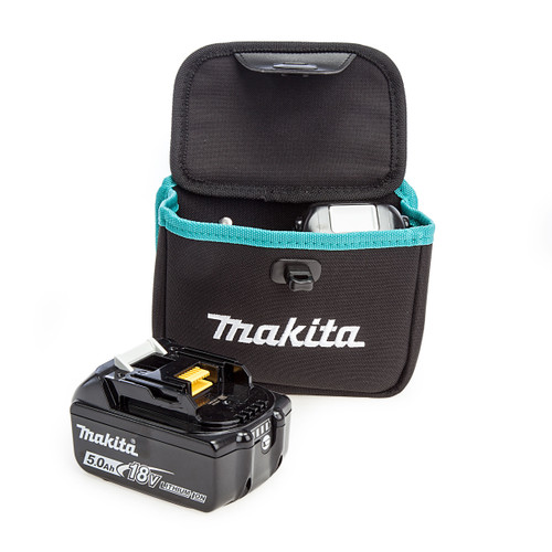 Makita 199297-7 Twin Dual Battery Pouch + 2 x BL1850B 5.0Ah Batteries