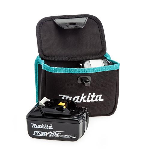 Makita 199297-7 Twin Dual Battery Pouch + 2 x BL1860B 6.0Ah Batteries
