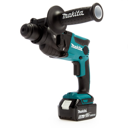 Makita DHR165RTJ 18V SDS Plus Rotary Hammer Drill 16mm (2 x 5.0Ah Batteries)