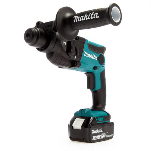 Makita DHR165RTJ 18V SDS Plus Rotary Hammer Drill 16mm (2 x 5.0Ah Batteries)