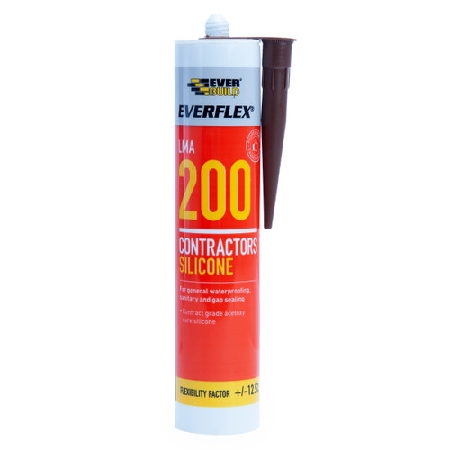 Everbuild 200BN Everflex 200 Contractors LMA Silicone Brown 295ml