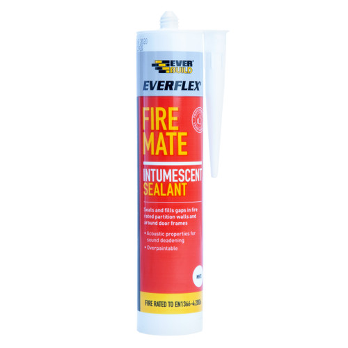 Everbuild Fire Mate Intumescent Sealant White 295ml
