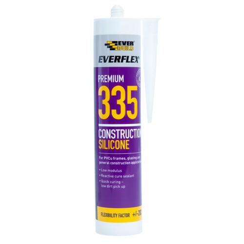 Everbuild 335TR Everflex 335 Construction Silicone Clear 295ml