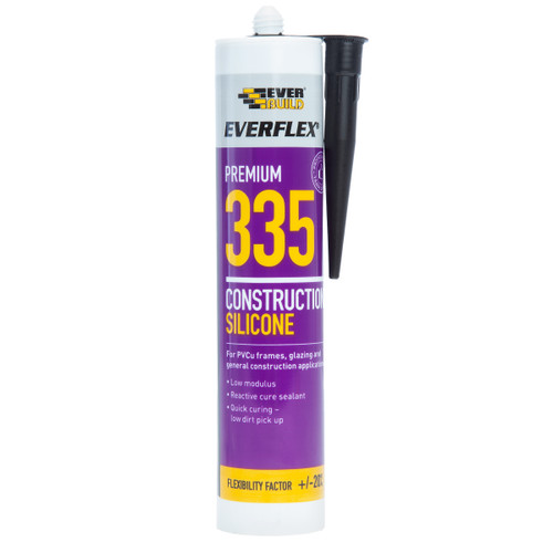 Everbuild 335BK Everflex 335 Construction Silicone Black 295ml