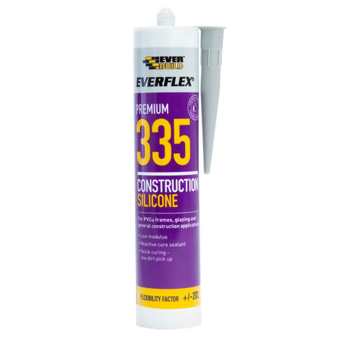 Everbuild 335GY Everflex 335 Construction Silicone Grey 295ml
