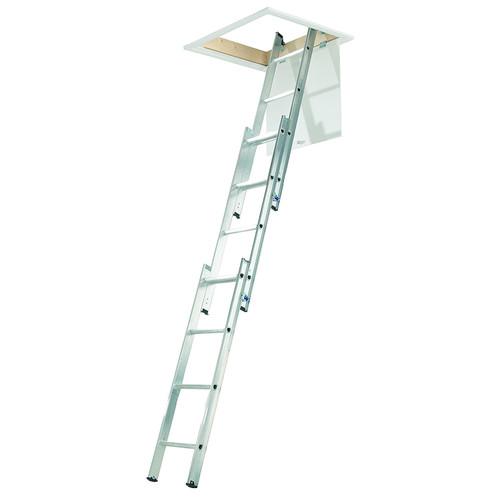 Aluminium 3 Section Loft Ladder 12 Rung - 3.00 Metre Maximum