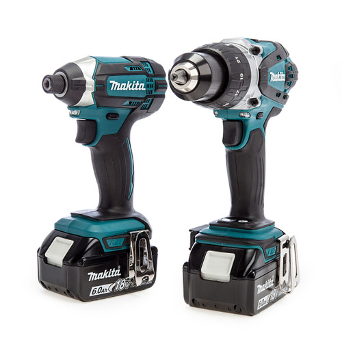 Makita DLX2145 18V LXT Twin Pack - DHP458 Combi Drill + DTD152 Impact Driver (2 x 6.0Ah Batteries)