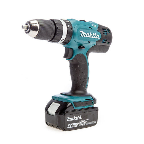 Makita DHP453 18V Li-ion Combi Drill with 101 Piece Accessory Set (1 x 4.0Ah Battery)