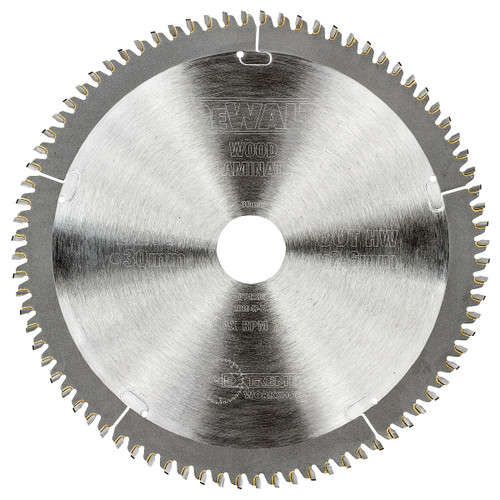 Dewalt DT4286 Extreme Workshop Saw Blade 216mm x 30mm x 80T