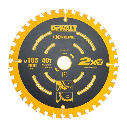Dewalt DT10301 Extreme Framing Blade 165mm x 20mm x 40T
