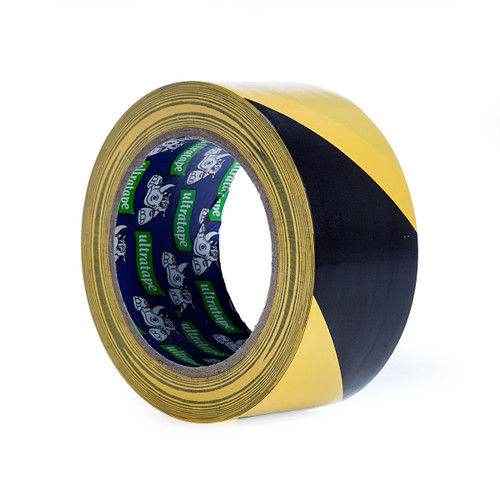 Ultratape HW00375033BYUL Rhino Black and Yellow Hazard Warning Tape 50mm x 33m