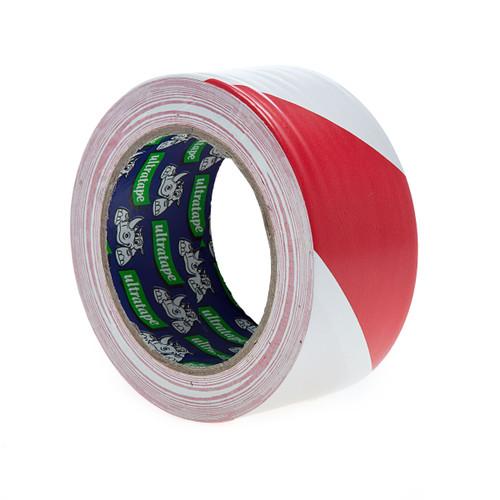 Ultratape HW00375033RWUL Rhino Red and White Hazard Warning Tape 50mm x 33m