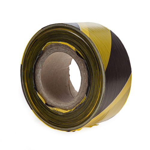 Ultratape NA70500BY Non-adhesive Black and Yellow Barrier Tape 70mm x 500m