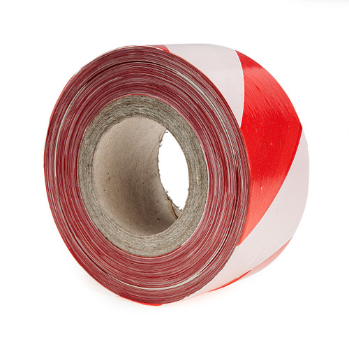 Ultratape NA70X500RW Non-adhesive Red and White Barrier Tape 70mm x 500m