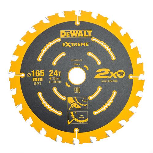 Dewalt DT10300 Extreme Framing Cordless Circular Saw Blade 165mm x 20mm x 24T