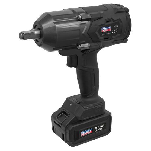 "Sealey CP1812 18V Cordless Impact Wrench 1/2""Sq Drive (1 x 4Ah Battery)"