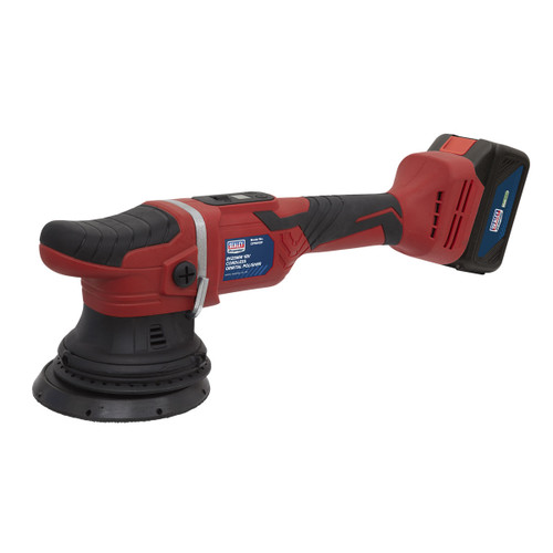 Sealey CP18VOP 18V Cordless Orbital Polisher 125mm (1 x 4Ah Battery)