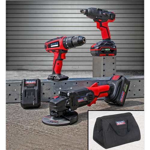 Sealey CP20VCOMBO1 CP20V Series 3 Piece Cordless Combo Kit (2 x 3.0Ah Batteries)