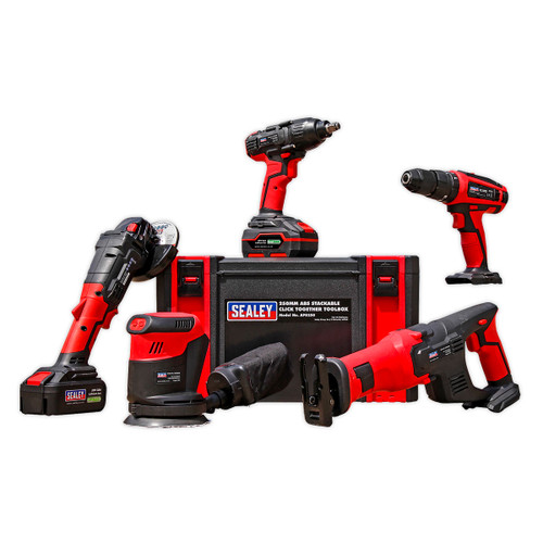 Sealey CP20VCOMBO2 CP20V Series 5 Piece Cordless Combo Kit (2 x 3.0Ah Batteries)