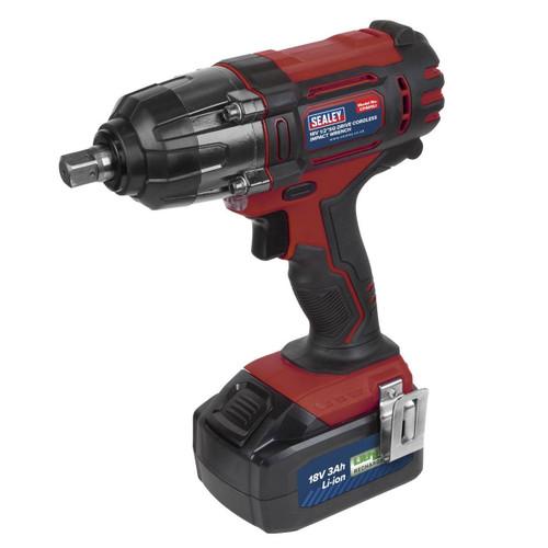 """Sealey CP400LI 18V Impact Wrench 1/2"""" Sq Drive (1 x 3.0Ah Battery) 1"""