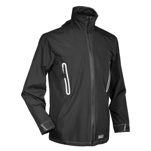Sealey WPHJ02 Heated Rain Jacket 5V - Medium