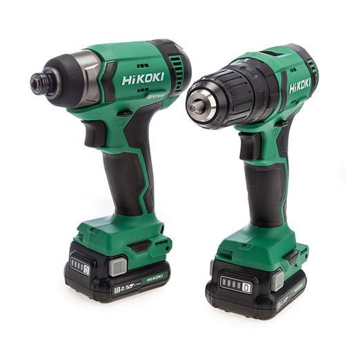 HiKOKI KC12DJ/JBZ 12V Cordless Combi Drill + Imapct Driver Twin Pack (2 x 2.5Ah Batteries) 1