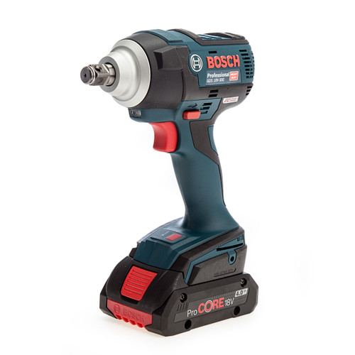 Bosch GDS 18V-300 Professional Brushless Impact Wrench (2 x 4.0Ah Batteries) 1
