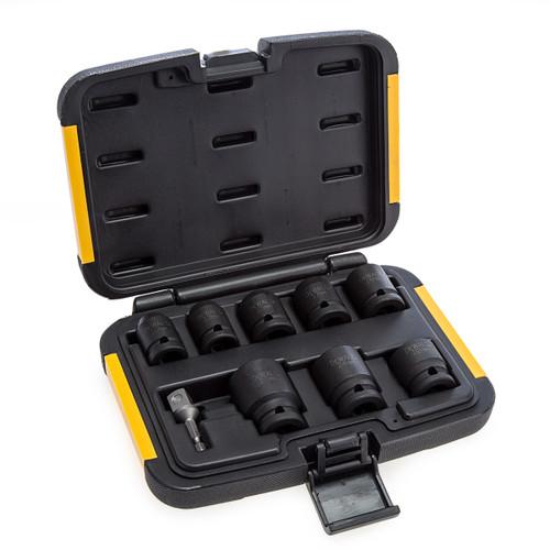 Dewalt DT7507QZ Metric Impact Socket Set 10 - 27mm (9 Piece) 1
