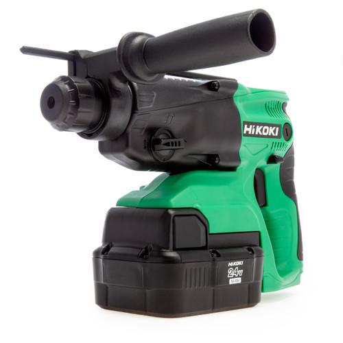 HiKOKI DH24DVC 24V 4kg SDS+ Rotary Hammer Drill (2 x 2.0Ah NiMH Batteries)