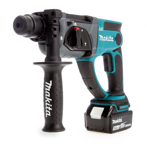 Makita DHR202RT1J 18V SDS Plus Rotary Hammer Drill (1 x 5.0Ah Batteries) 1