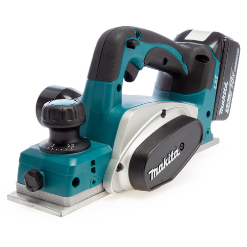 Makita DKP180RTJ 18V LXT Planer 82mm in Makpac Case (2 x 5.0Ah Batteries)