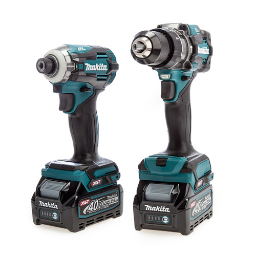Makita DK0114G202 40Vmax XGT Combi Drill and Impact Driver Twin Pack (2 x 2.5Ah Batteries) 1