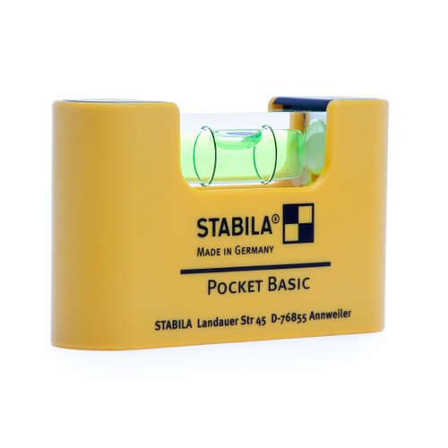 "Stabila 70mm / 2. 3/4"" Basic Pocket Sized Spirit Level 1 Vial (17773-S)"