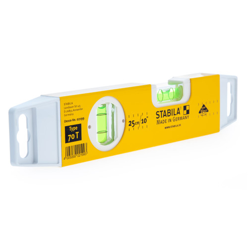 "Stabila 250mm / 10"" Spirit Level Type 70 T 2 Vials (02199 / STB70T-25)"