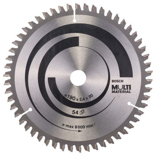Bosch 2608640508 Multi-Material Circular Saw 190mm x 20, 16mm x 54T