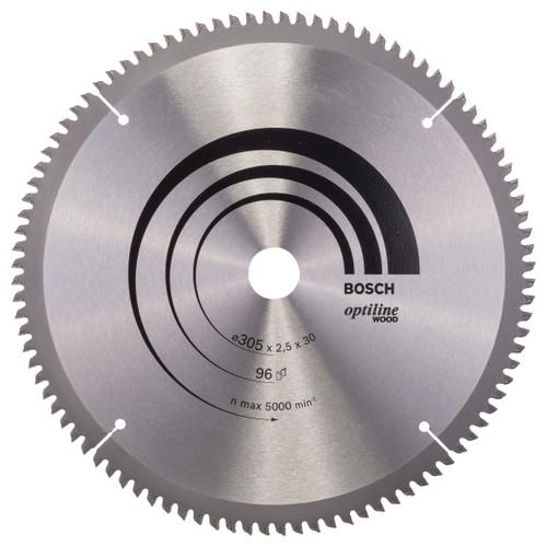 Bosch 2608640442 Optiline Circular Saw Blade for Wood 305mm x 30mm x 96T