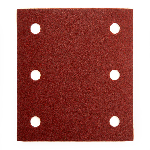 The Makita P-33102 is a Pack of 10 Hook and Loop Sanding Sheets with 6 holes, 1/4 Sheet in size and an 80 Grit rating.