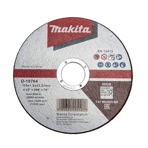 Makita D-18764-100 Thin Cutting Disc 115 x 1 x 22.23mm (Tub of 100) 1