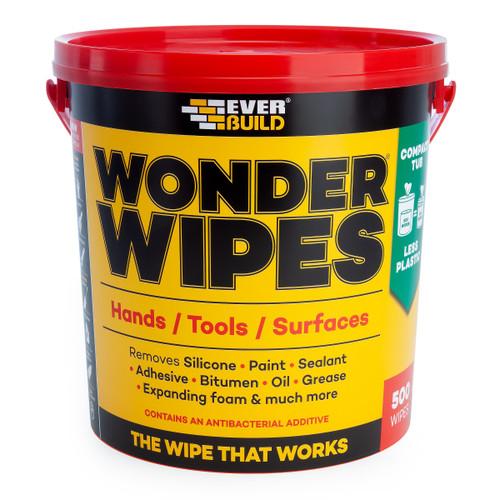 Everbuild MONSTERW Wonder Wipes Monster Tub 500 Wipes