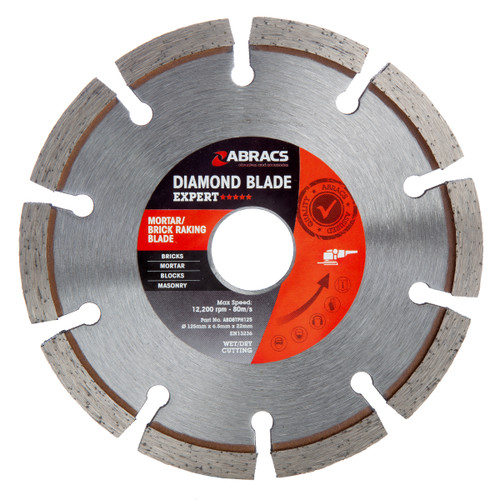 Abracs ABDBTPH125 Expert Mortar/Brick Raking Diamond Blade 125mm x 6.5mm x 22mm