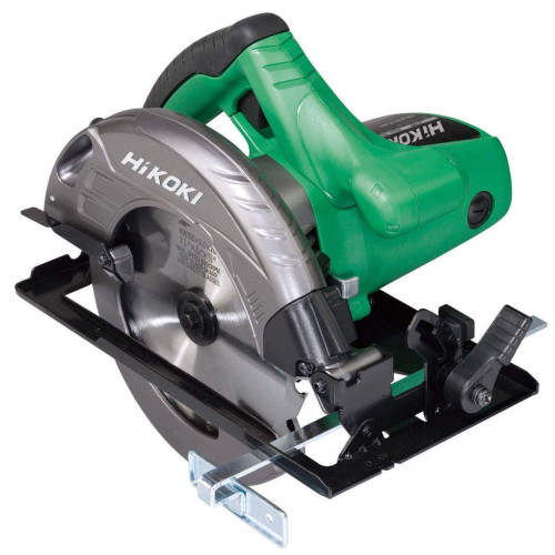 The HiKOKI C7STJ2Z is a 110V model with a 1560W motor that has a no load speed of up to 6000rpm. The 185mm blade gives a depth of cut of 62mm.