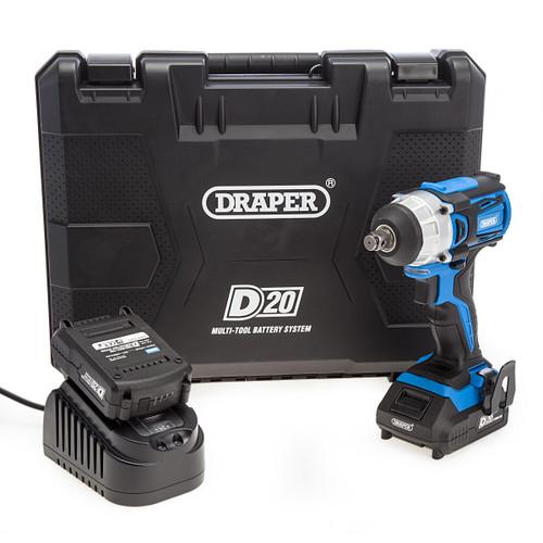 "Draper 55343 D20 20V 1/2"" Impact Wrench (2 x 2.0Ah Batteries) 4"