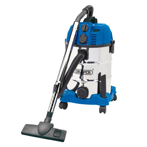 Draper 20529 Wet & Dry Vacuum with Power Out-Take Socket 30L