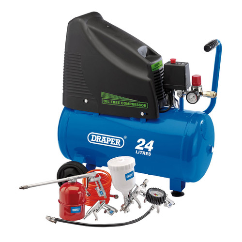 Draper 90126 Oil Free Compressor and Air Tool Kit