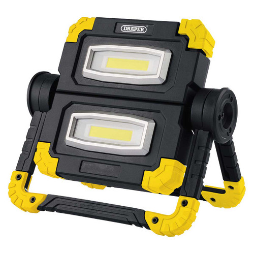 Draper 10W COB LED Rechargeable Twin Work Light - 850 Lumens