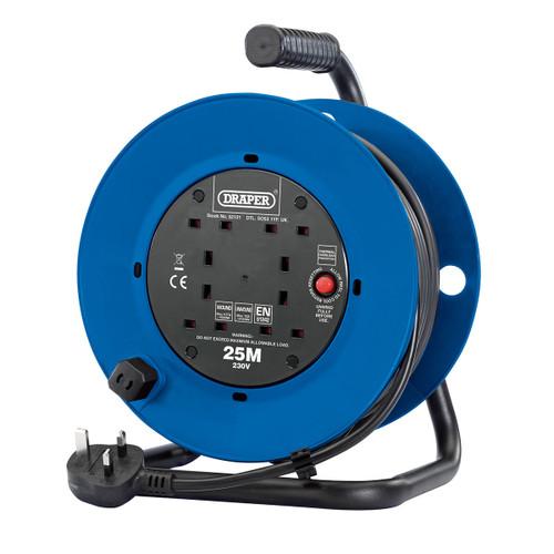 Draper 02121 Industrial Four Socket Cable Reel 25m