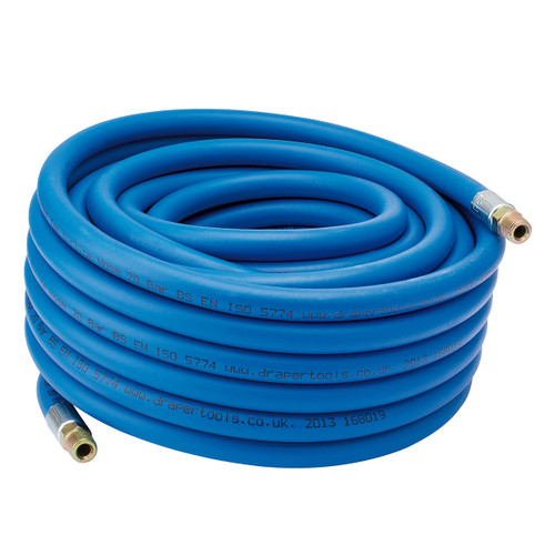 "Draper 38285 15m Air Line Hose with 1/4"" BSP Fittings"