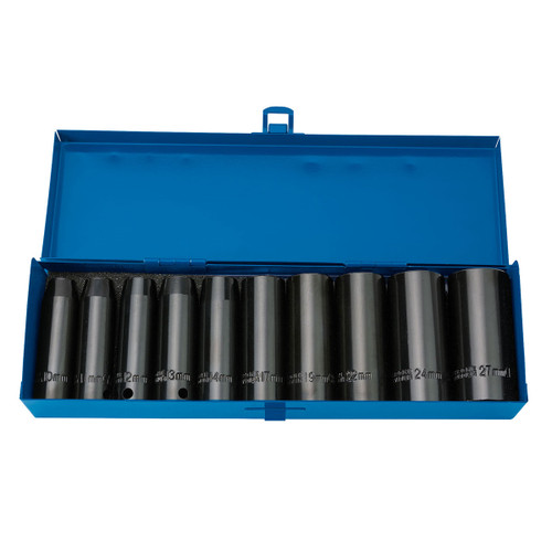 Draper 38369 HI-TORQ Metric Deep Impact Socket Set