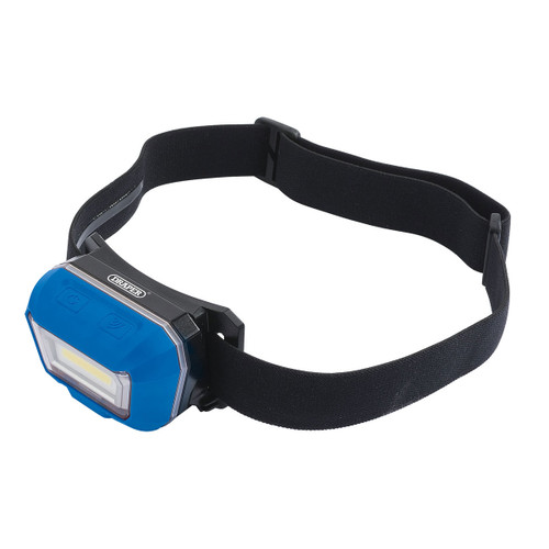 Draper 54374 Rechargeable COB LED Head Torch 3W