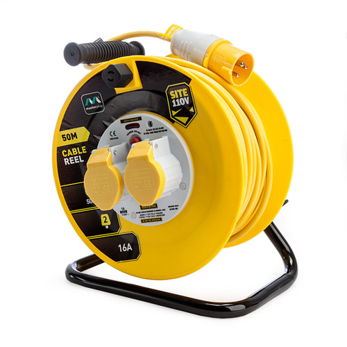 Masterplug LVCT5016-2-MP 16 amp 2 Gang Cable Reel 50 Metres 110V 1